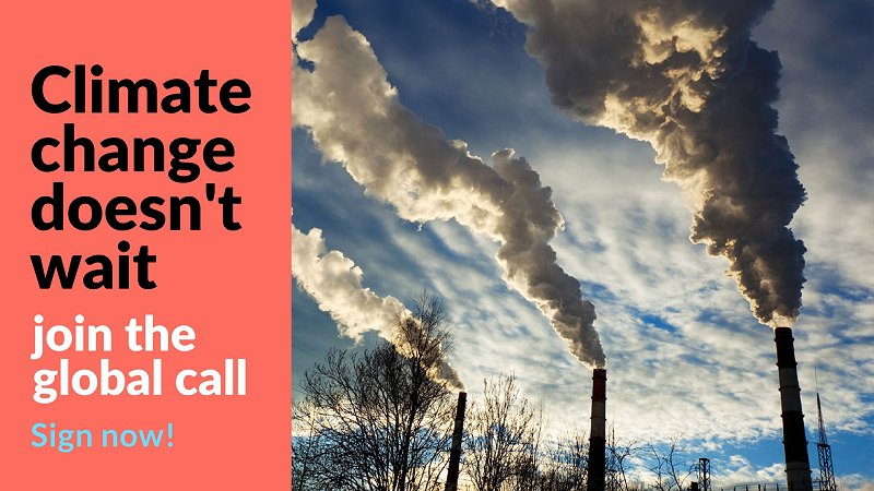 CALL FOR ACTION ON CLIMATE CHANGE